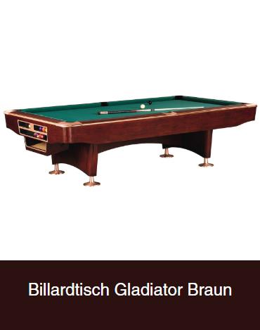 Billardtisch-Gladiator-Braun in  Bonn