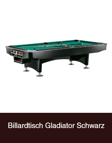 Billardtisch-Gladiator-Schwarz