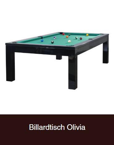 Billardtisch-Olivia