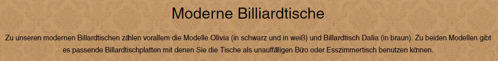Billardtische-modern