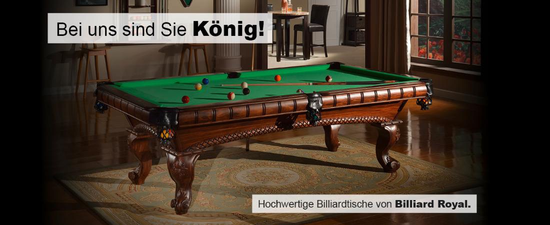 Billardtische in Bonn - 🥇 Billiard-Royal: Snooker, Zubehör, Pool, ..