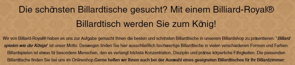 Billiardtische aus 53111 Bonn, Siegburg, Wachtberg, Wesseling, Königswinter, Troisdorf, Niederkassel oder Alfter, Sankt Augustin, Bornheim