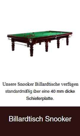 Snooker-Billardtische